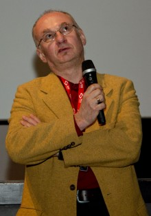 "Caspar Phaudlar after screening of ""Walking on the beach"" in Dom omladine"