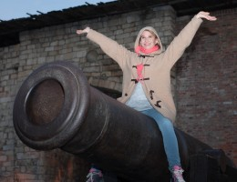 Nadeshda Brennicke actress from Banklady movie in Belgrade sightseeing