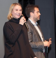 Nadeshda Brennicke  actress from Banklady after screening in Dom Omladine