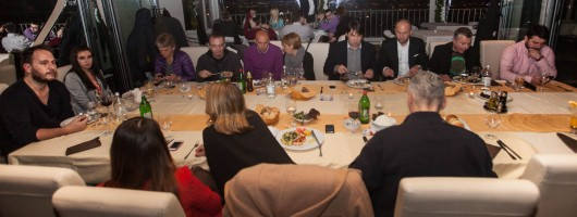 Guests of the festival at restaurant Caruso